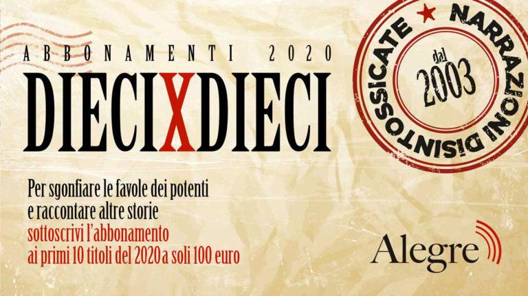 Abbonamento 10x10 2020 copertina